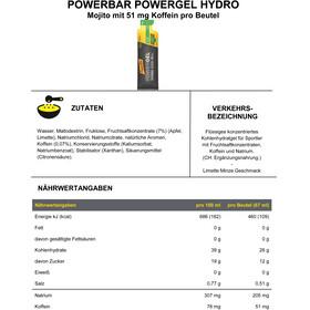 PowerBar PowerGel Hydro Box Mojito mit Koffein 24 x 67ml